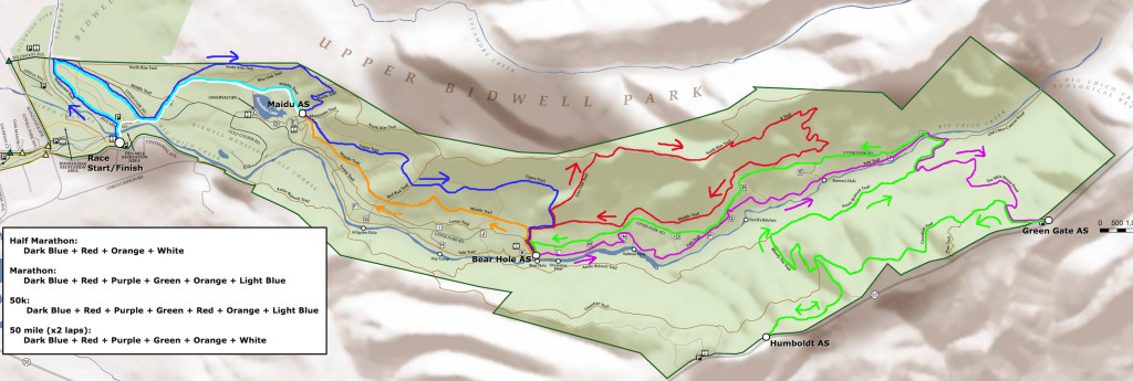 Rim To Rim Trail Run Course Map
